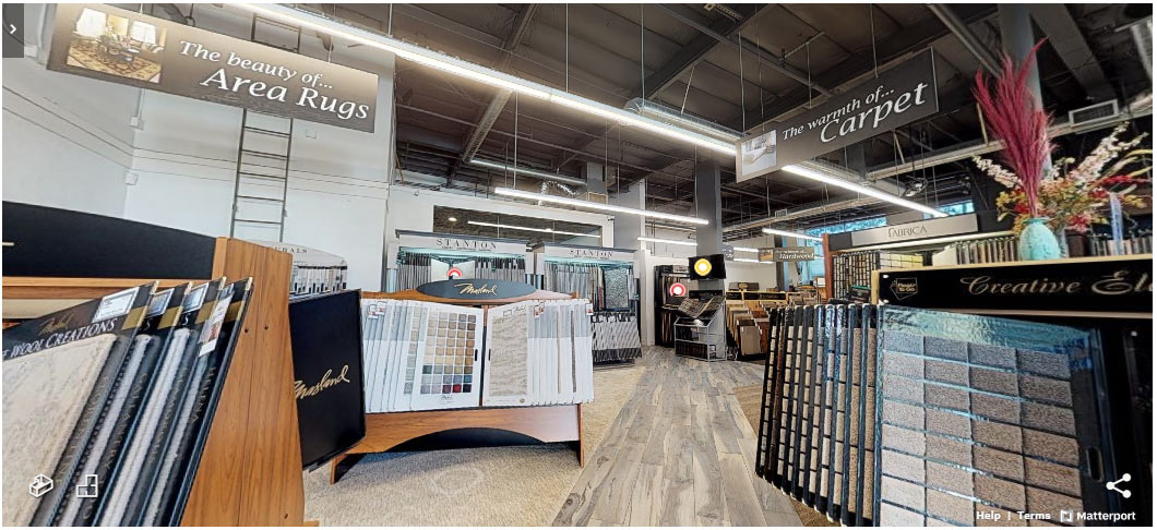 Take a virtual tour of the Fine Floorz showroom in Walnut Creek, California - We offer the best and largest selection of carpet, hardwood, tile / stone, laminate, vinyl, and area rugs