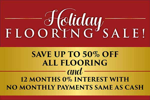 Save up to 50% off all flooring during our Holiday Flooring Sale at Fine Floorz in Walnut Creek, CA