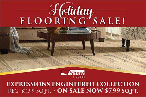 Shaw Floors Expressions Engineered Collection Flooring starting at $7.99 sq.ft. during our Holiday Flooring Sale at Fine Floorz in Walnut Creek, CA