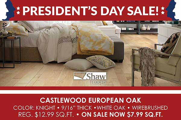 Save on Hardwood Flooring during our Presidents Day Sale at Fine Floorz