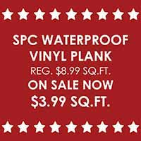 Save on SPC Waterproof Vinyl Plank Flooring during our Presidents Day Sale at Fine Floorz