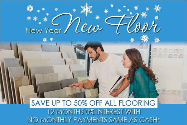 Save on Flooring during our New Year New Floor sale at Fine Floorz in Walnut Creek