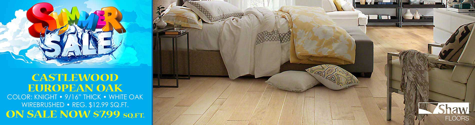 European White Oak now $7.99 sq.ft. during our Summer Sale at Fine Floorz!