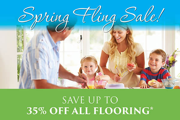Spring Fling Sale! Save up to 35% off all flooring
