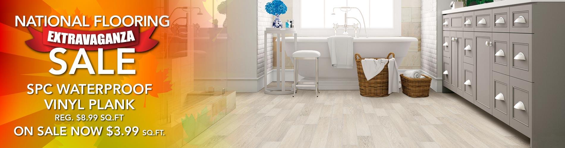 SPC Waterproof Luxury Vinyl Plank flooring starting at $3.99 sq.ft at Fine Floorz